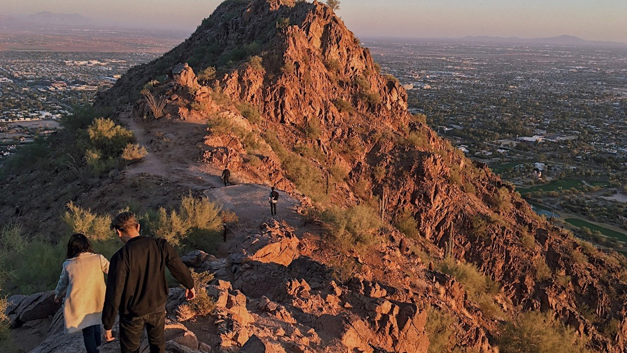 Sunset mid-Camelback hike - student project