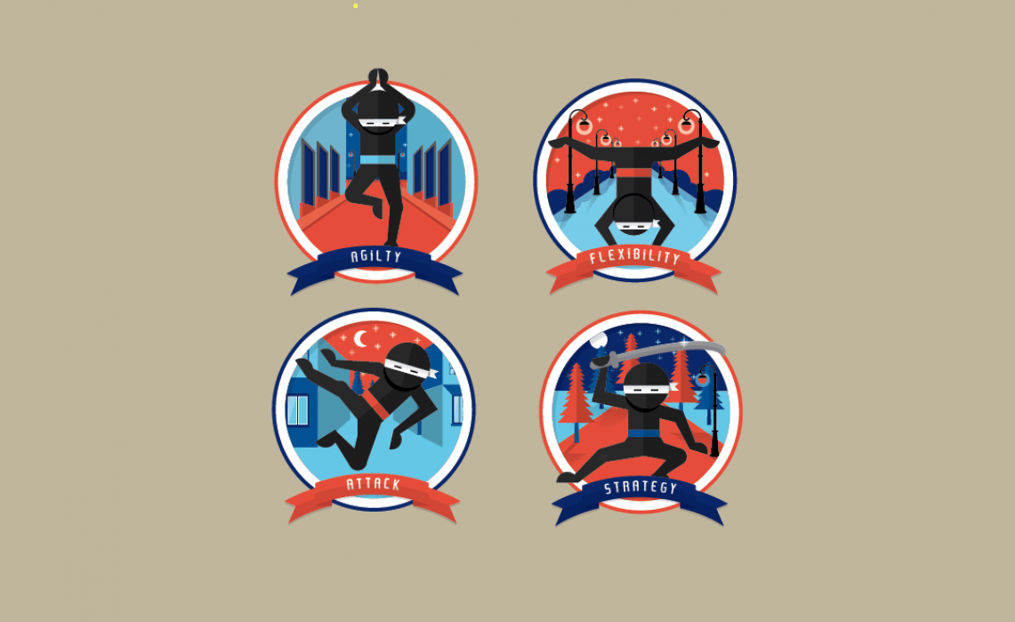 Ninja Badges - student project