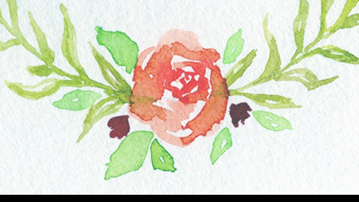 Floral Watercolor Wreath - student project