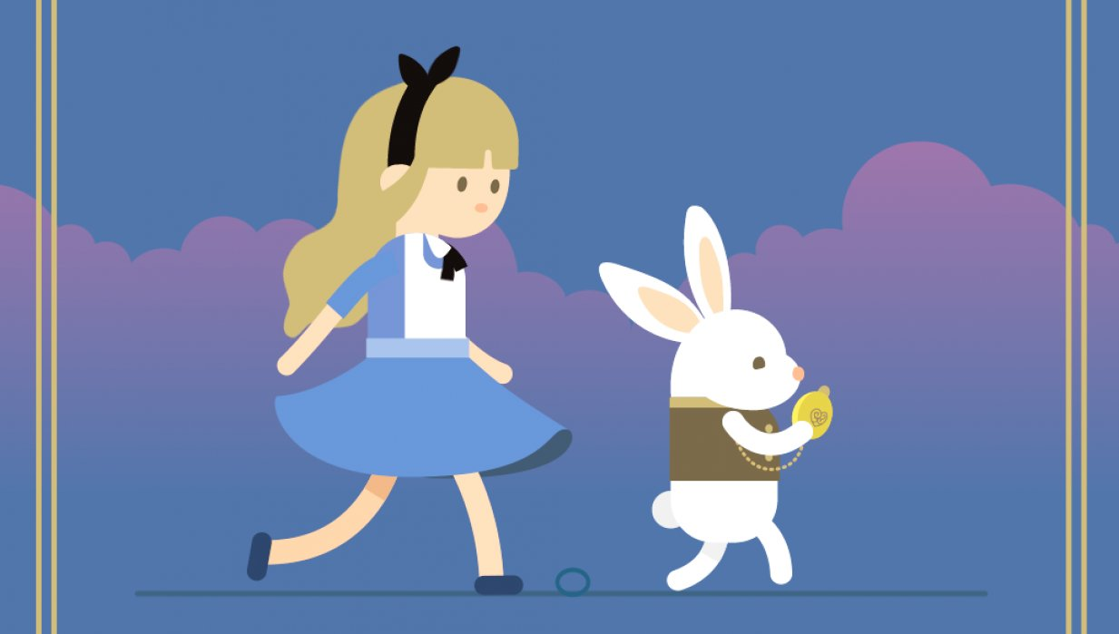 Super satisfying !!! Alice and Mr. Rabbit - student project