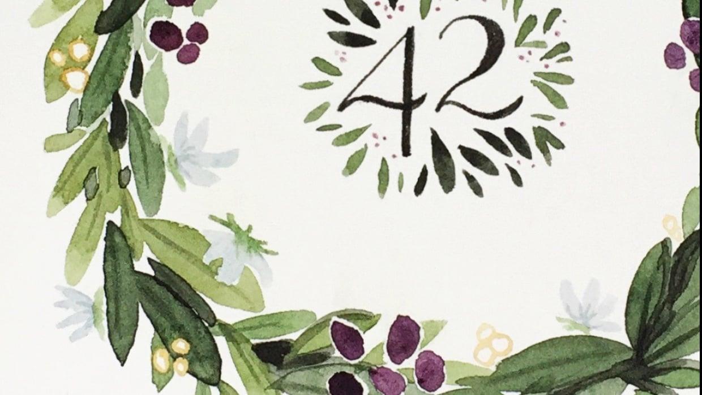 Illustrative style anniversary wreath - student project