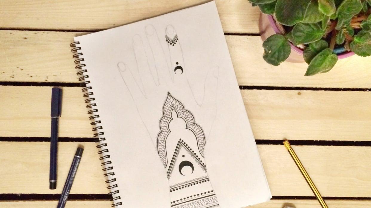 Henna design - student project