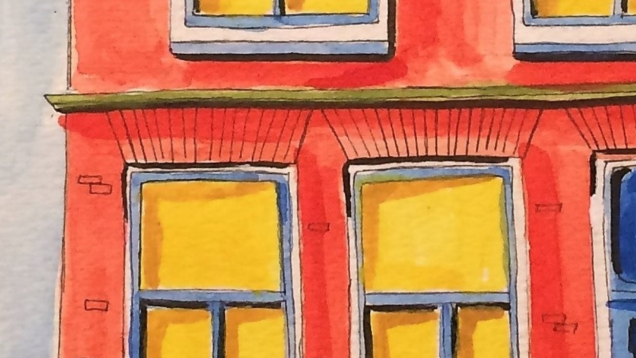 Watercolor Fun-house - student project