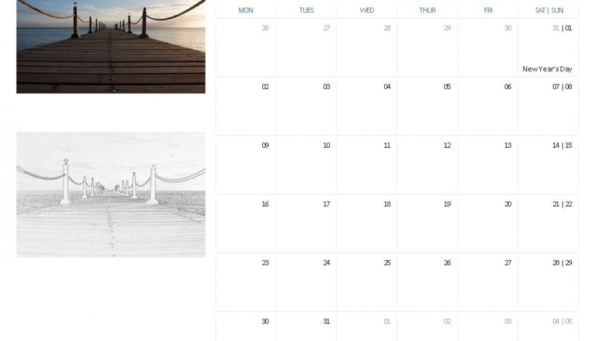 Create a Coloring Book Calendar - student project