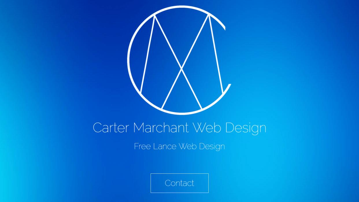 CarterMWebDesign.com - student project