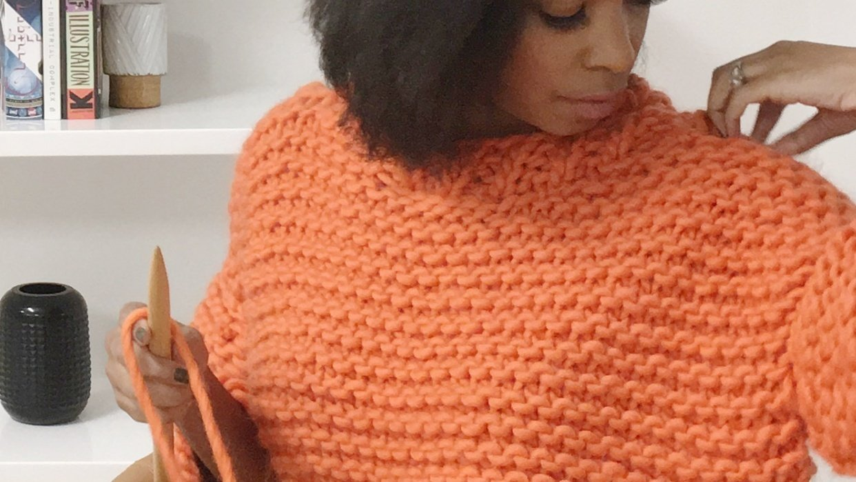 My 1760 We Are Knitters Sweater - student project