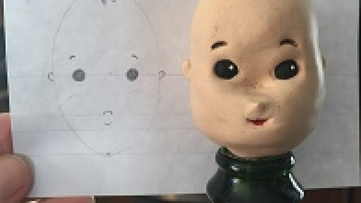 First attempt at a clay head - student project