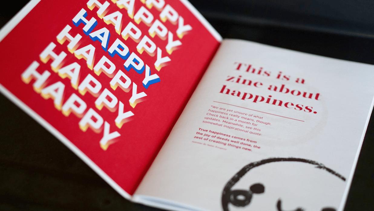 The Happy Zine - student project