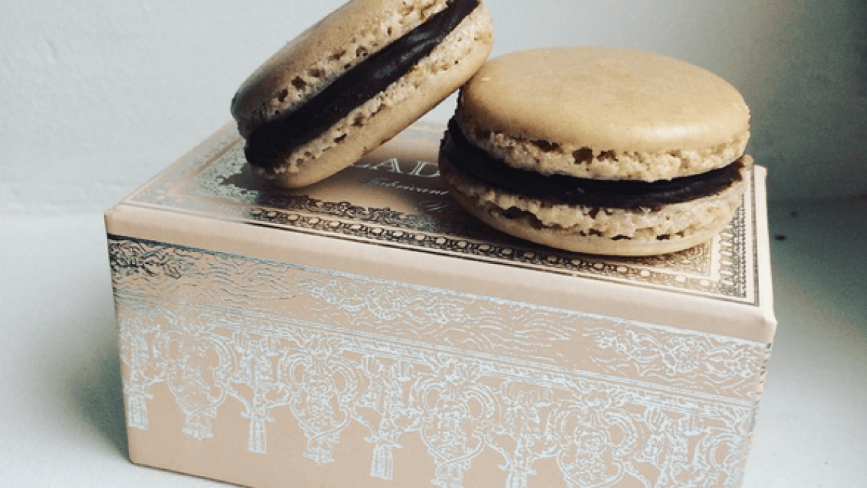 First attempt at Chocolate macarons - student project