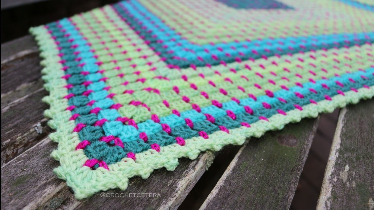 Electric Lime Gemma Blanket - student project