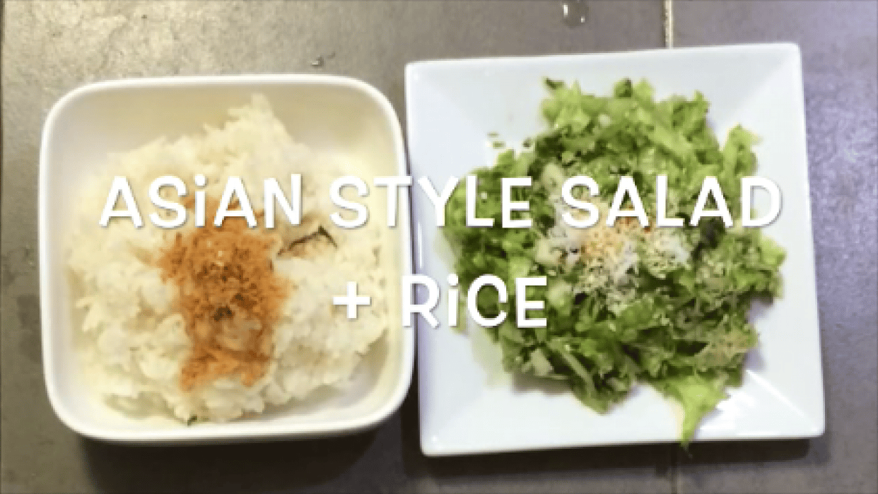 Sharing favourite SALAD COMBINATION and experience double-boiling other GRAINS - student project