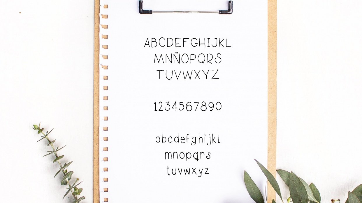 My own font!!! - student project