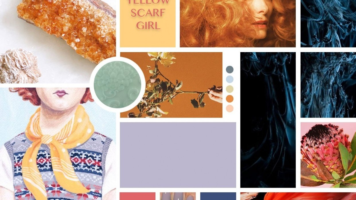 First Photoshop Moodboard - student project