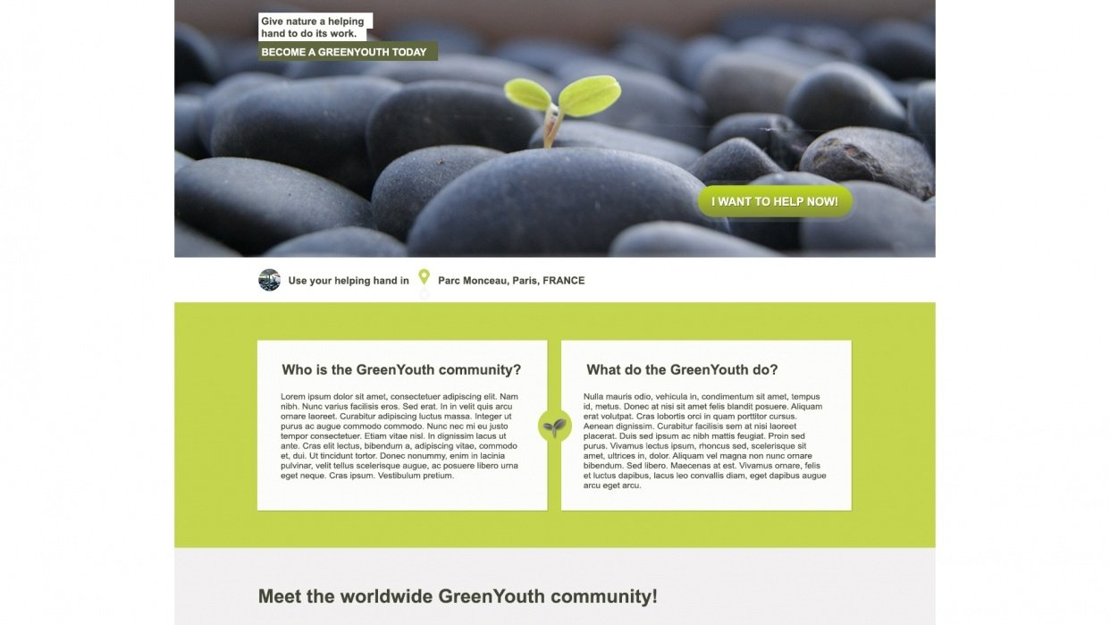 GreenYouth website - student project