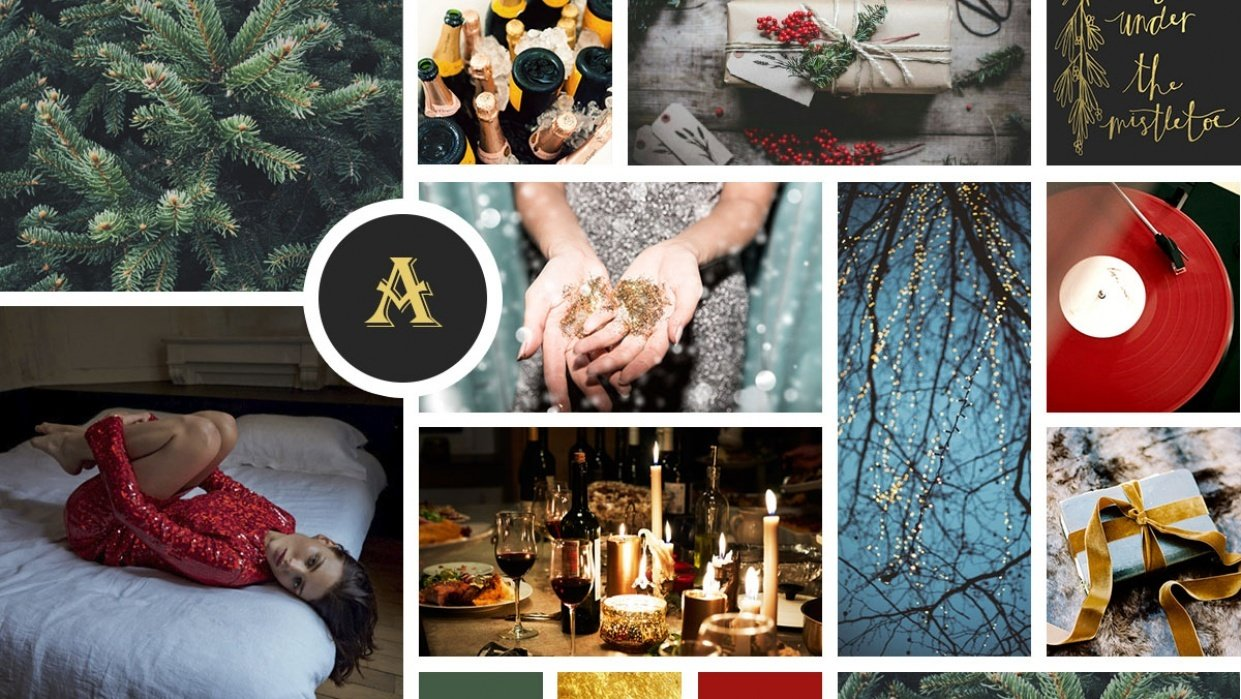 Holidays Moodboard - student project