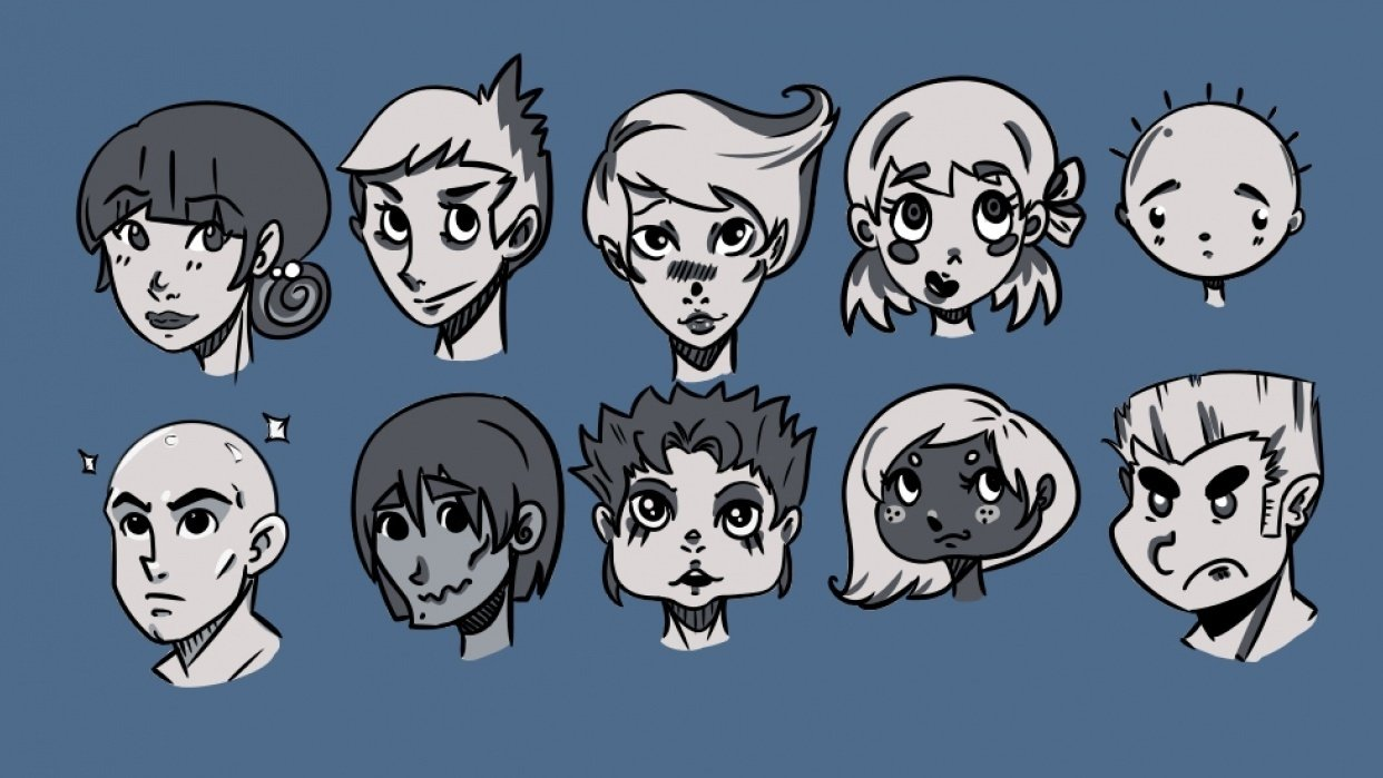 10 Faces  - student project