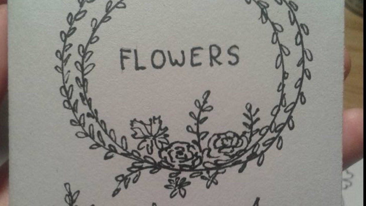 I am making my flower zine. :)  - student project
