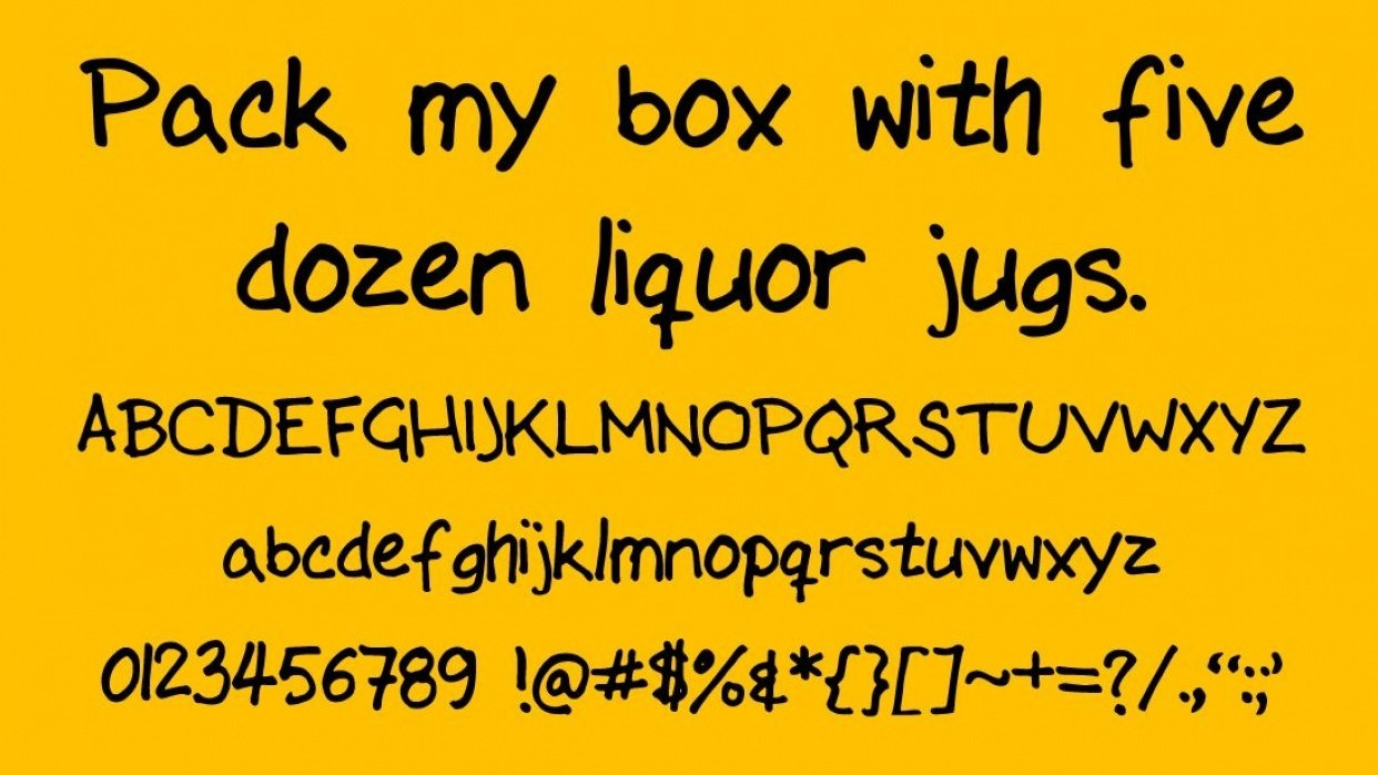 Hand Marker Font! - student project