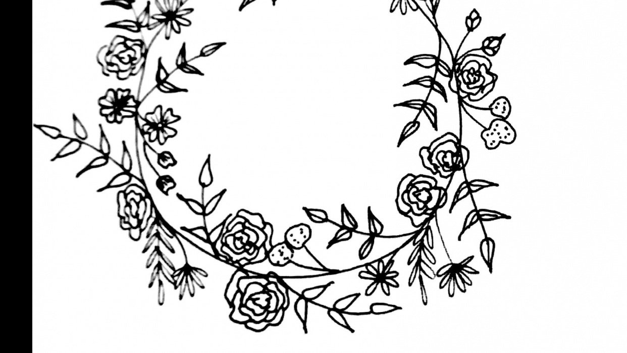 Botanical wreath - student project