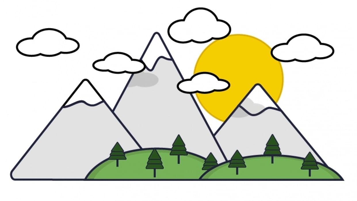 Mountain Sunrise - student project