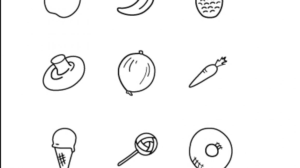 Food icons - student project