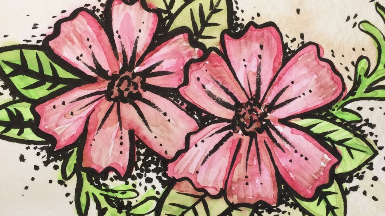 floral color mixing gone awry! - student project
