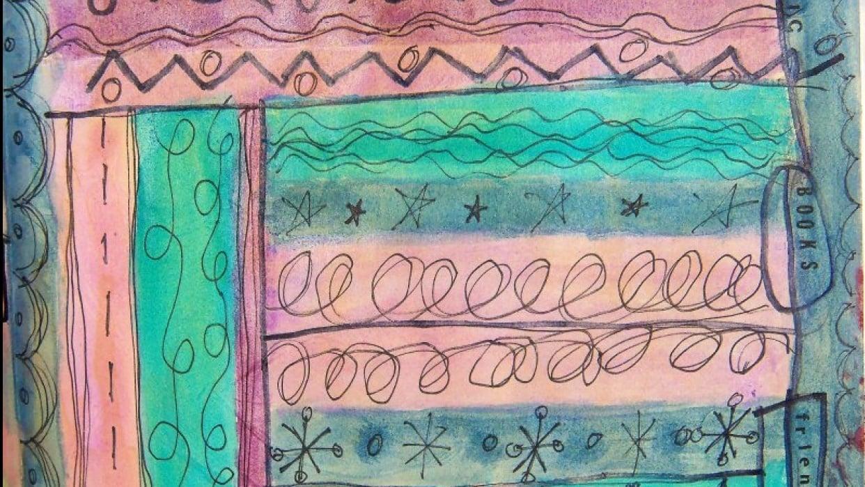 Sketchbook Doodle practice pages - student project