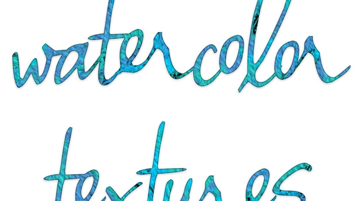 Watercolor Textures Logo Idea - student project