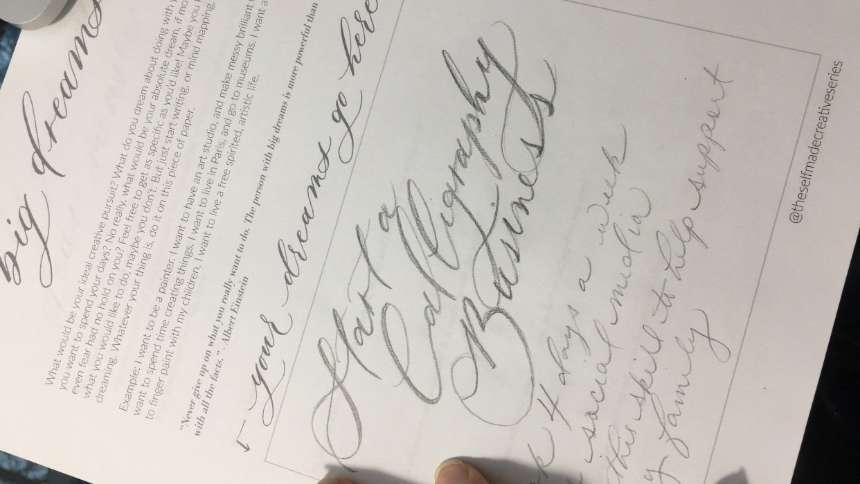 Sample Project: I want to be a Calligrapher! - student project
