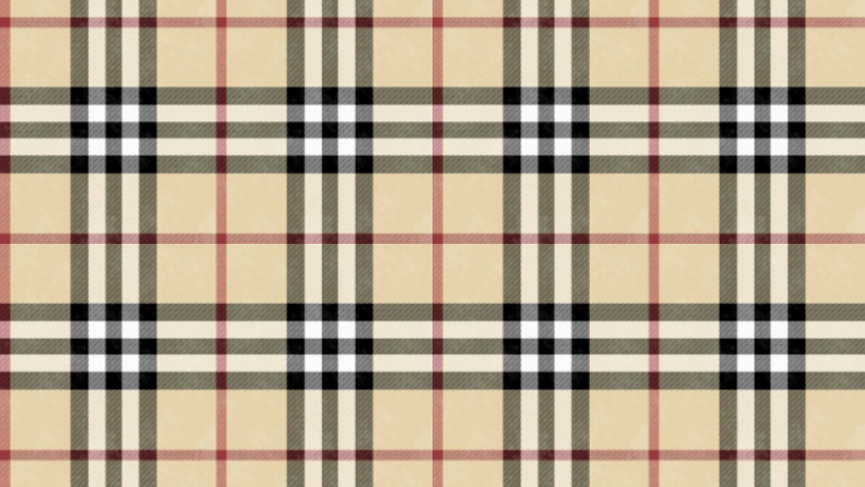 Burberry plaid - student project