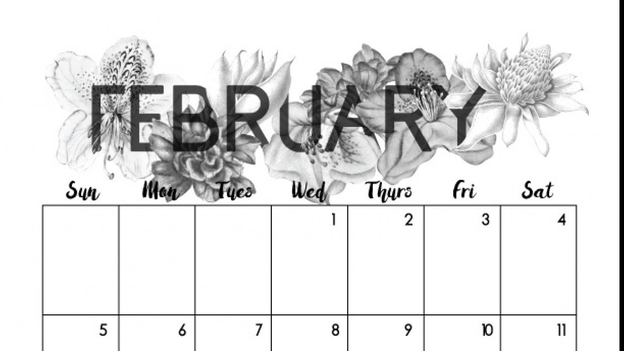 February Florals - student project