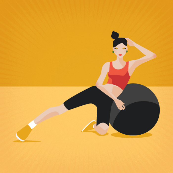 Fitness Ball Exercise Postures - student project