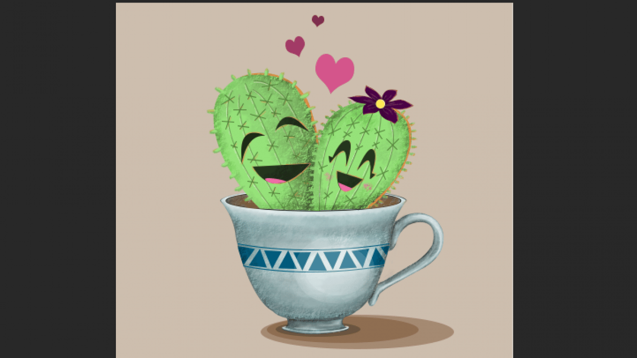 Cute and Happy Cacti - student project