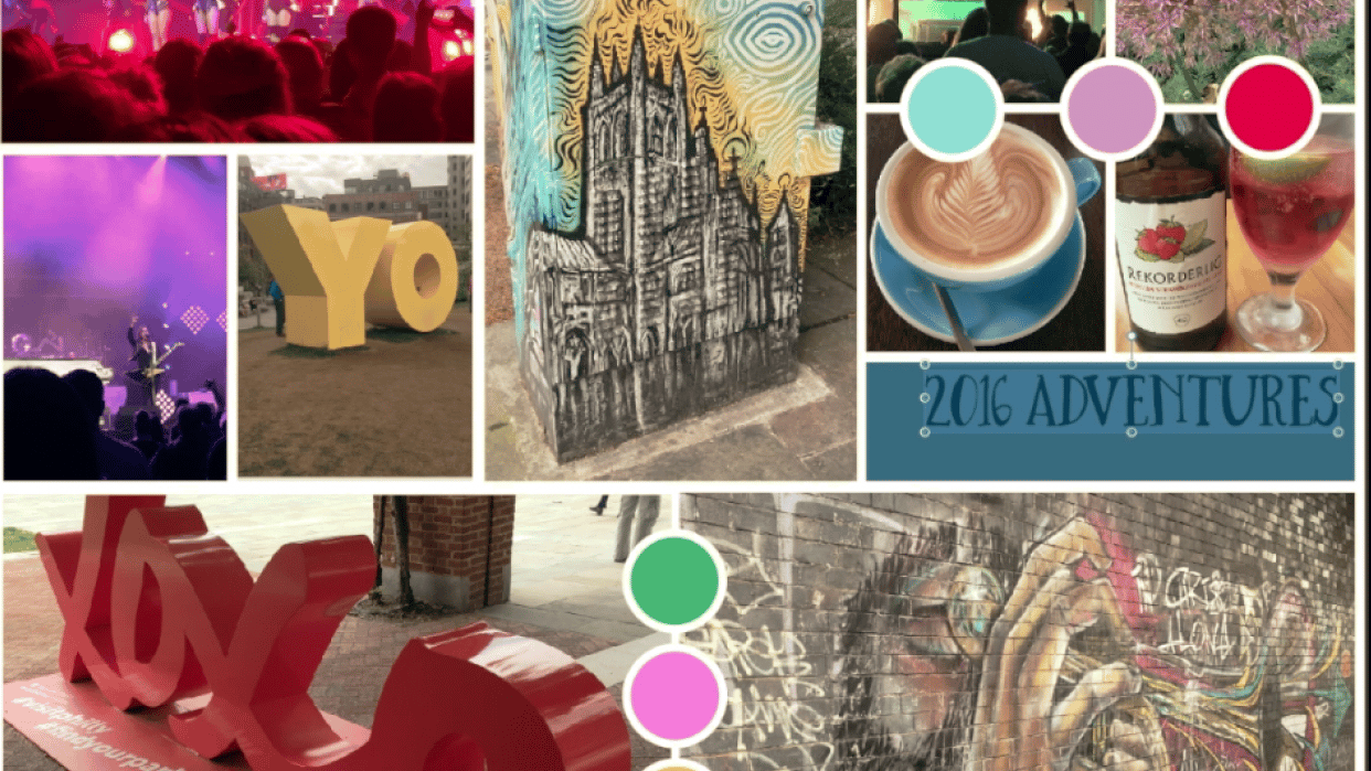 Travel Inspired Mood Board - student project