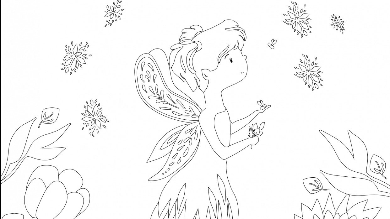 Coloring Book Page - student project