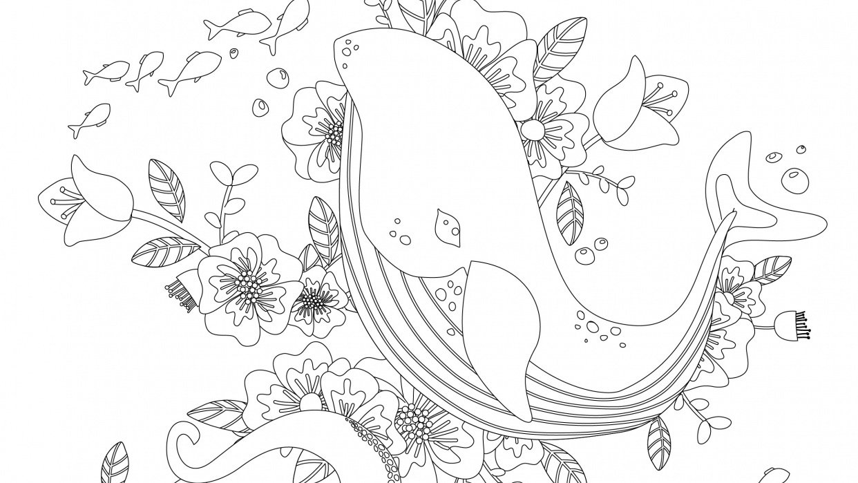 Coloring Book - I whale always love you - student project