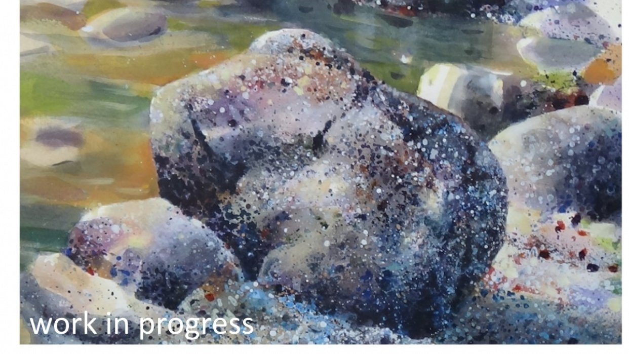 Creating Realistic Effects In Your Painting With Spattering - student project