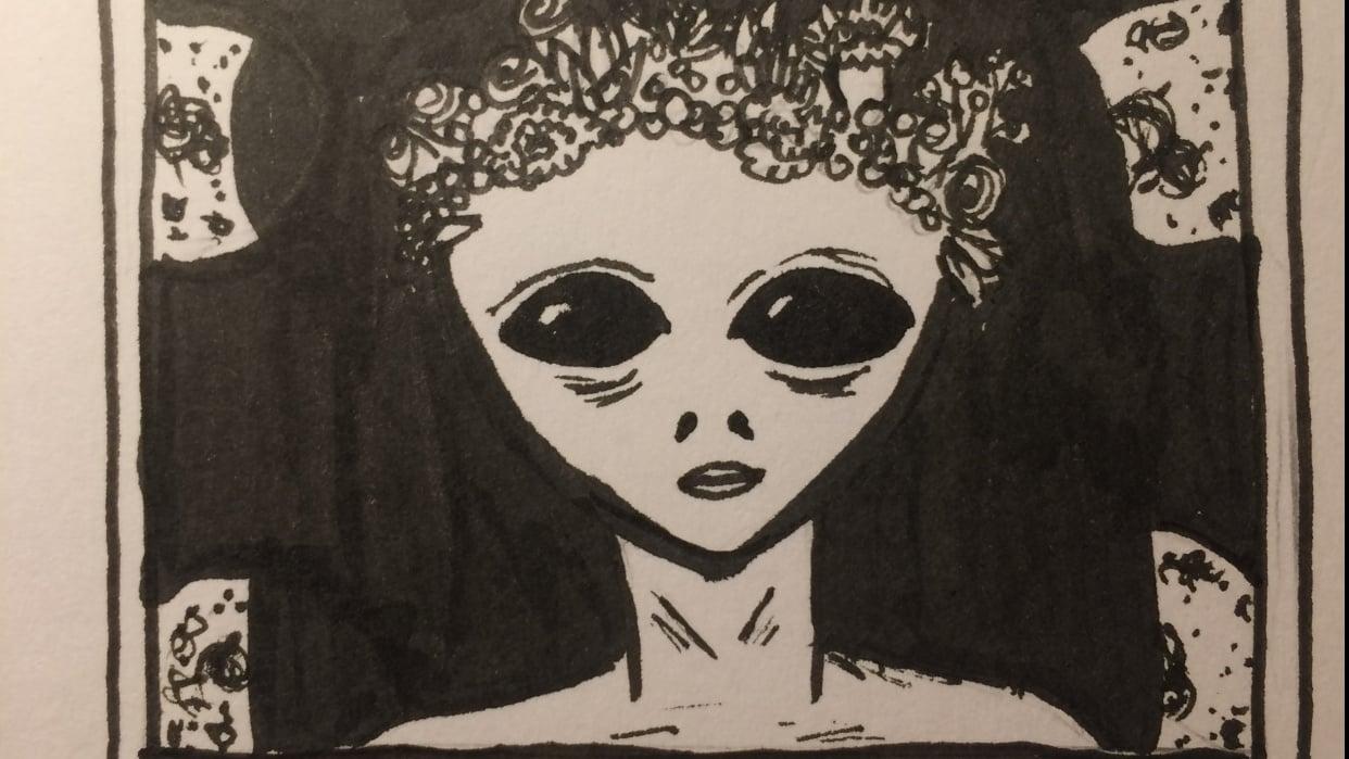Alien Polaroid  - student project