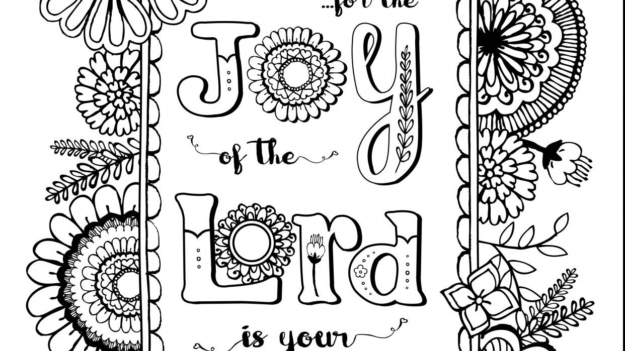 Coloring Book Page - Joy of the Lord - student project