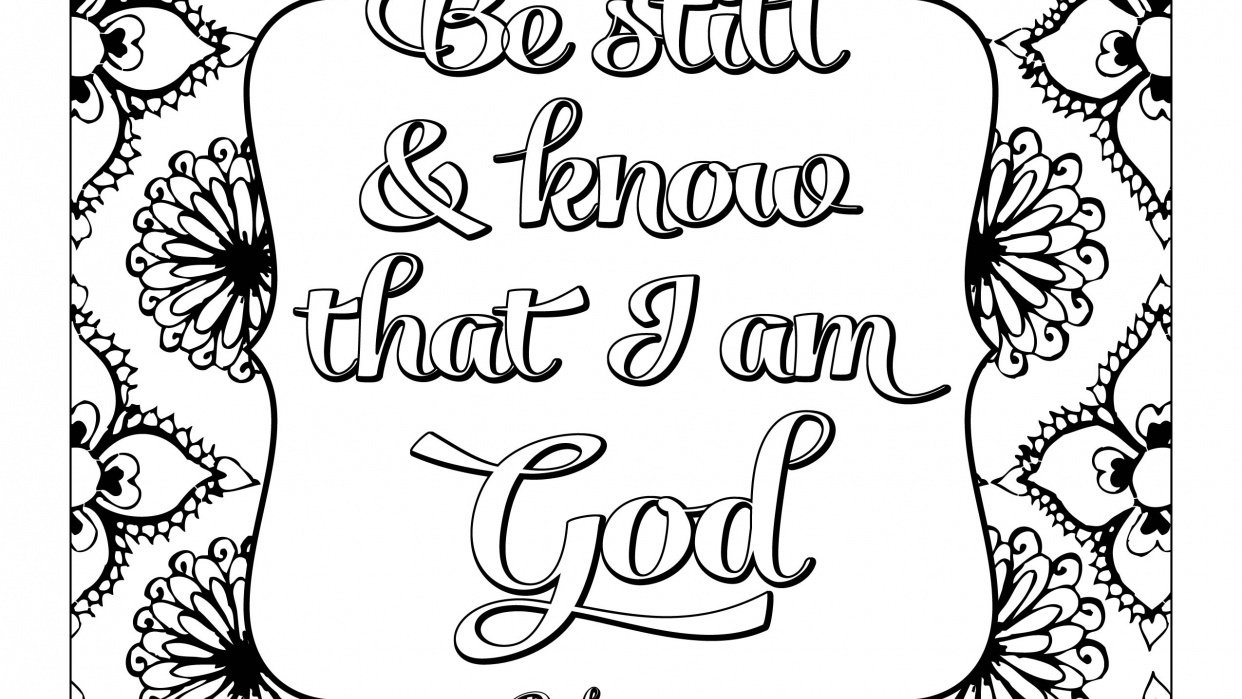 Coloring page -Be still - student project