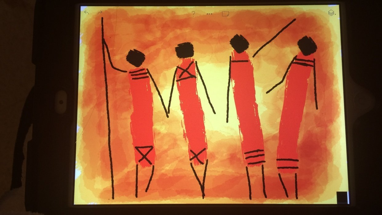Maasai Tribesment - student project
