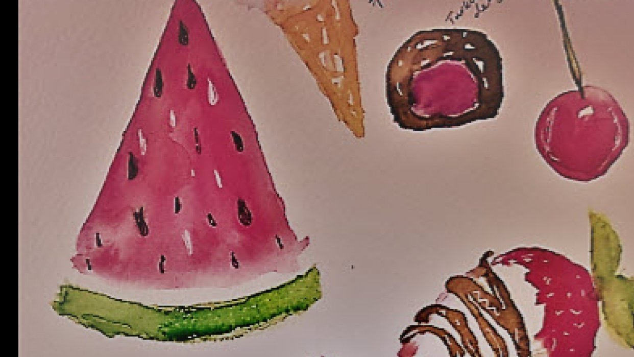 Sweets for summer.. yummy and really fun.:) - student project