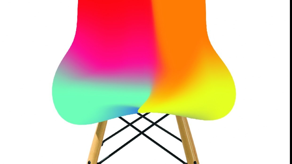 Gradient chair. - student project