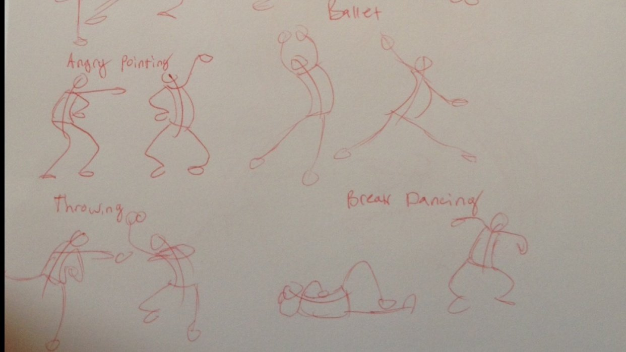 Stick Figure drawings - student project