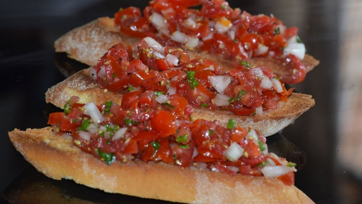 How My Bruschetta's Turned Out :) - student project
