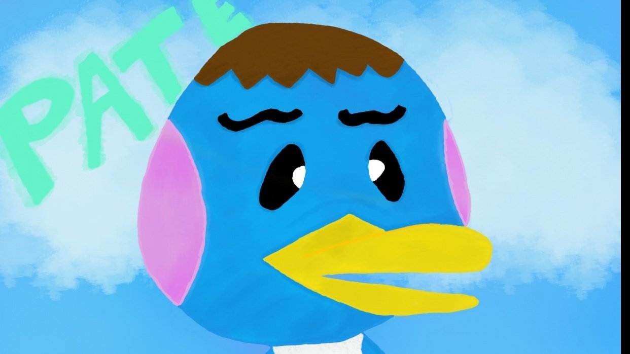 Animal Crossing Villager: Pate the Peppy Duck - student project