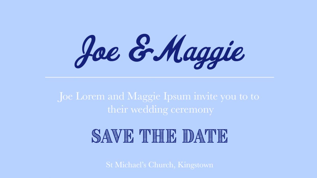 JM Wedding Typo Practice - student project
