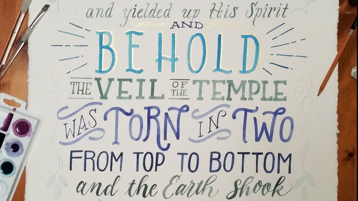 Matthew 27:50-51 - student project
