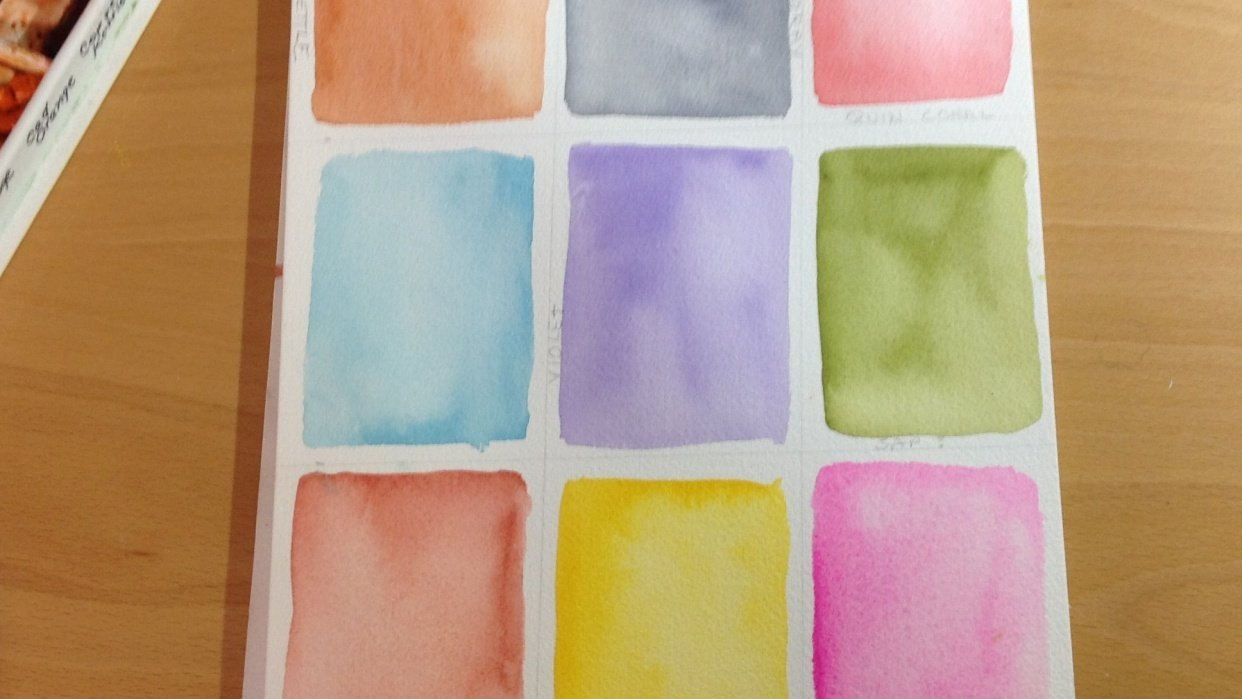 Watercolor textures with Ana - student project