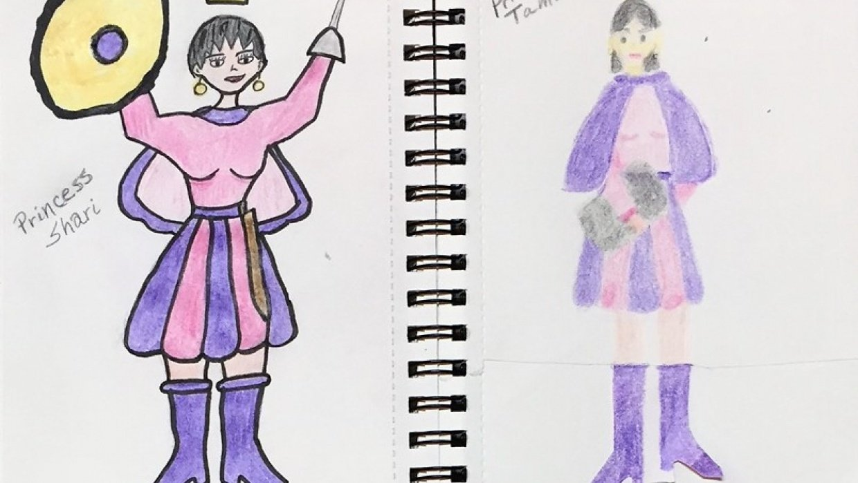 Princesses Shari and Tamu - student project
